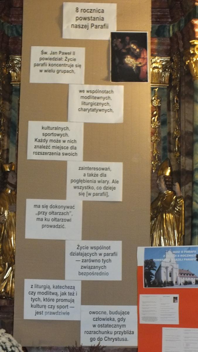 """19.11.2016 - Modlitwa w intencji Parafii i rozstrzygnięcie konkursu """"Quiz o Parafii"""""""