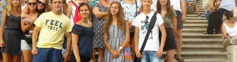 Młodzież Franciszkańska w Rzymie i w Asyżu